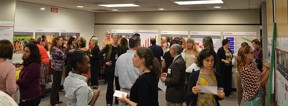 Guests mingle and learn more about the USAID NTD Program.