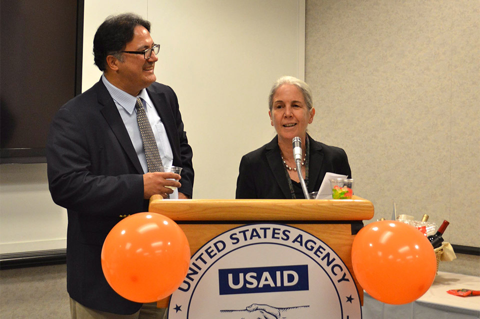 USAID Global Health Bureau Assistant Administrator Ariel Pablos-Méndez and HIDN Director Elizabeth Fox give opening remarks.