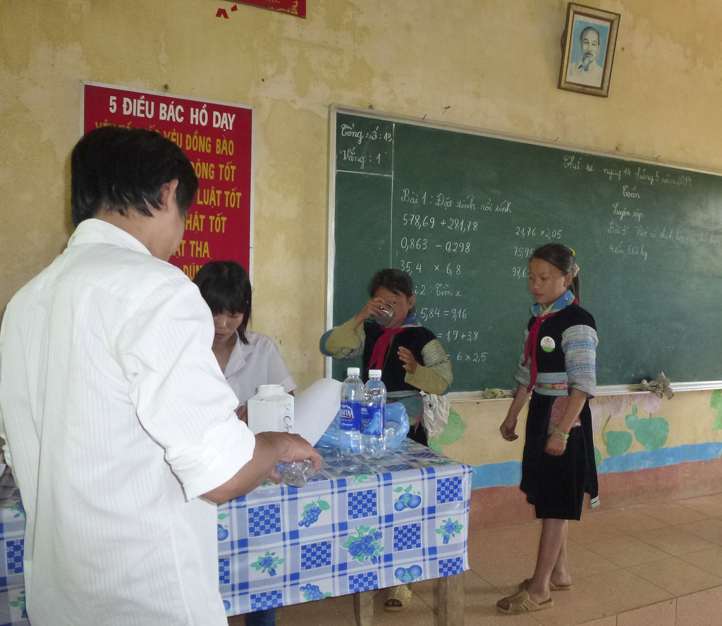 USAID supports deworming medication for school children in Sa Pa district of Lao Cai province.