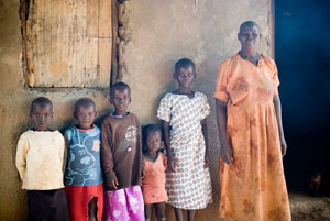 A family in Uganda who benefit from USAID's support for NTD control. Source: Andrea Peterson