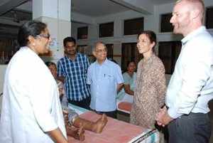 Dr.Kumaraswami in the center with USAID and Task Force for Global Health colleagues, at a recent visit to the Filariasis Chemotherapy Unit, TD Medical College, Kerala,India,in February 2016.