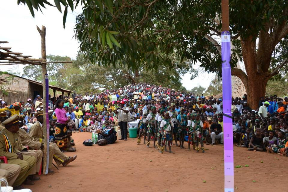 Thousands of people came out for the MDA launch event in Ancuabe, Cabo Delgado, Mozambique.