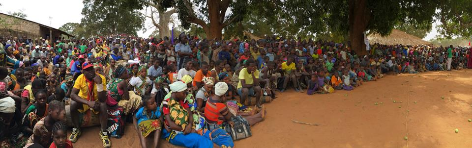 The village of Nthuthupue, Mozambique, came out to celebrate the launch of the MDA campaign in the Cabo Delgado, Mozambique.